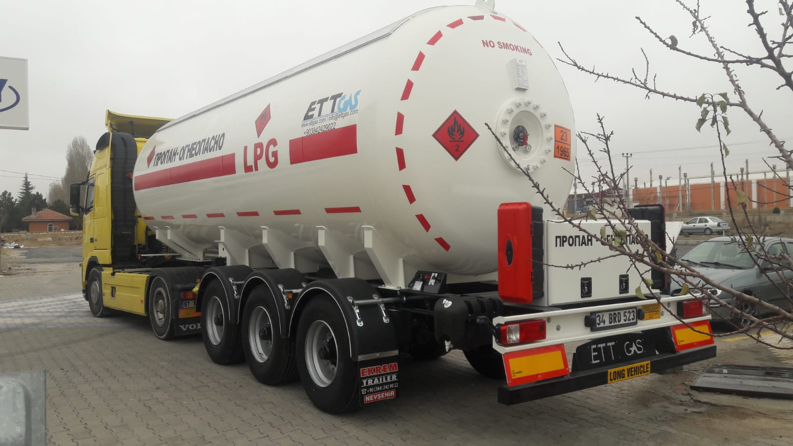 Another 36 m3 Lpg Trailer delivery to Kirghizistan&Kazakhistan