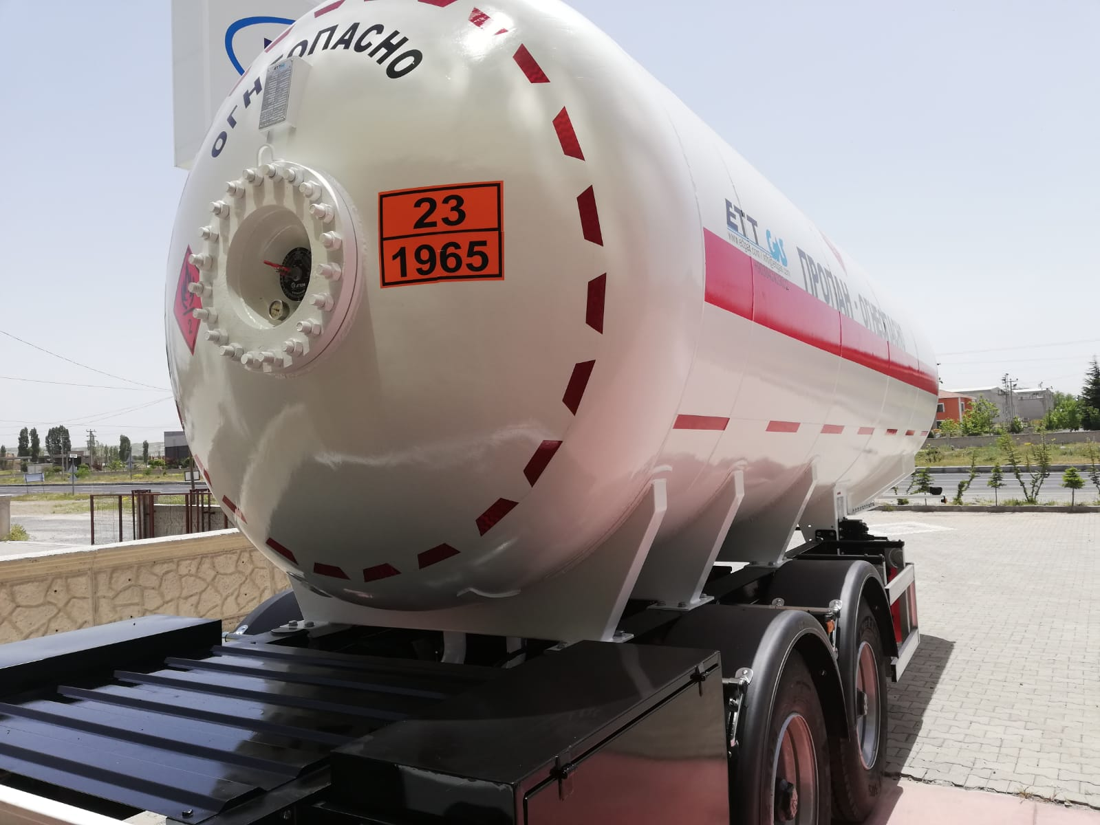 32 m3 Lpg Trailer Double Axles  New Design 29.05.2019