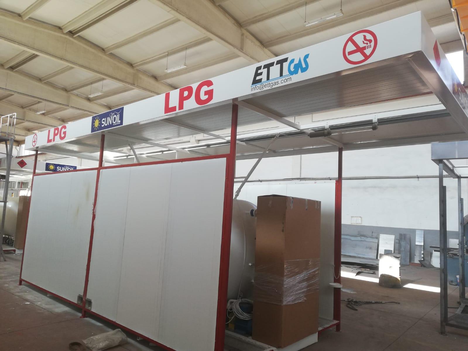 10 m3 LPG SKID TANK ALL SYSTEM 18.09.2019