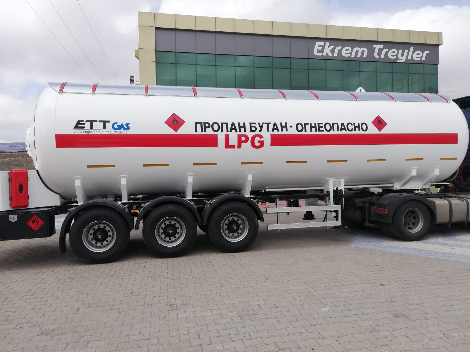 45 m3 LPG TRAILER WE SENT RUSSIA FEDERATION